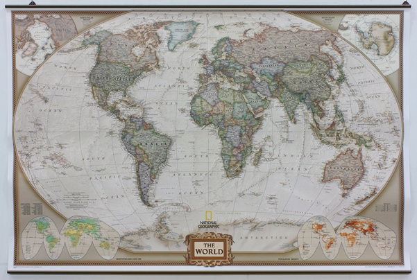 PK Brass Example antique map