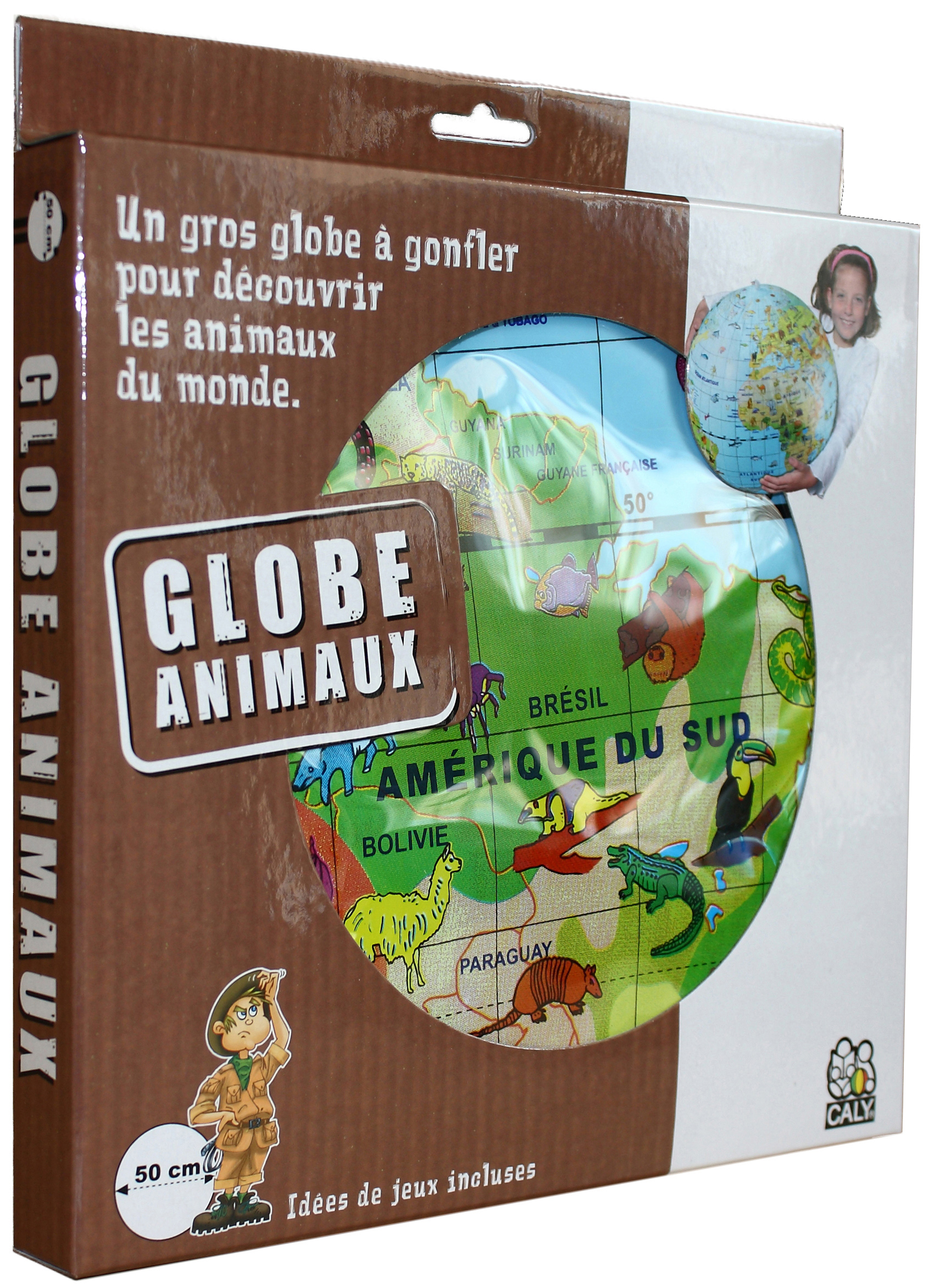 Caly Toys Globe Animaux 50 boîte