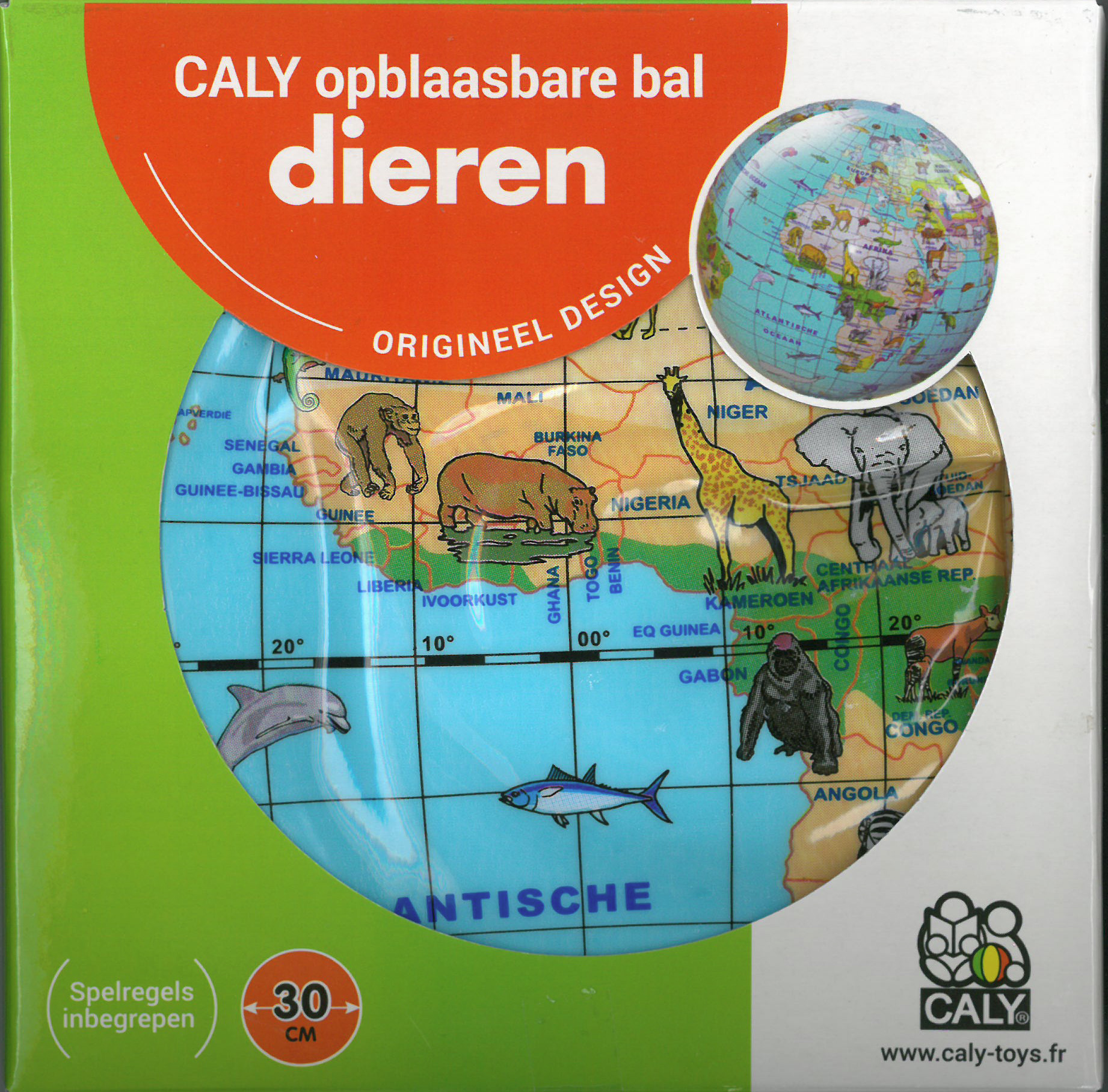 Caly Toys Animal Globe 30 box