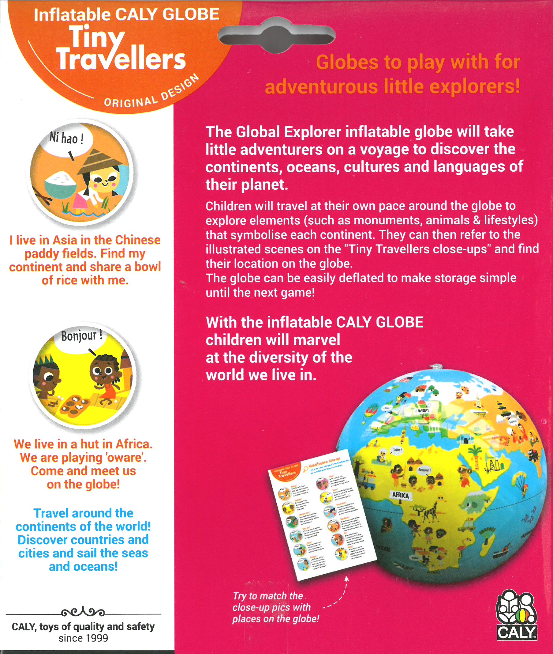 Caly Toys Globe Tiny Travellers 30 EN_back of box