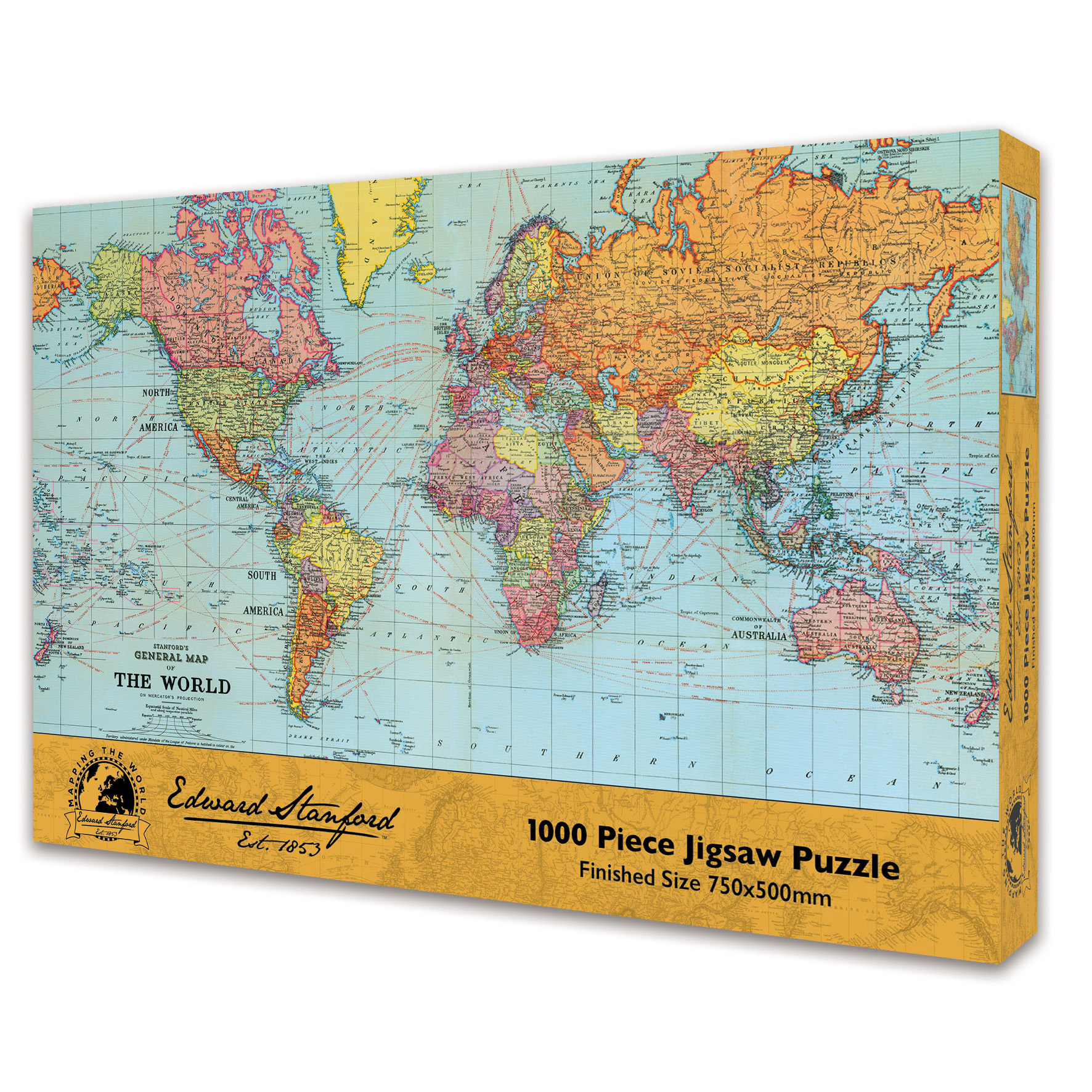 Puzzle world 1000 Jigsaw Pieces Edward Stanford rectangular