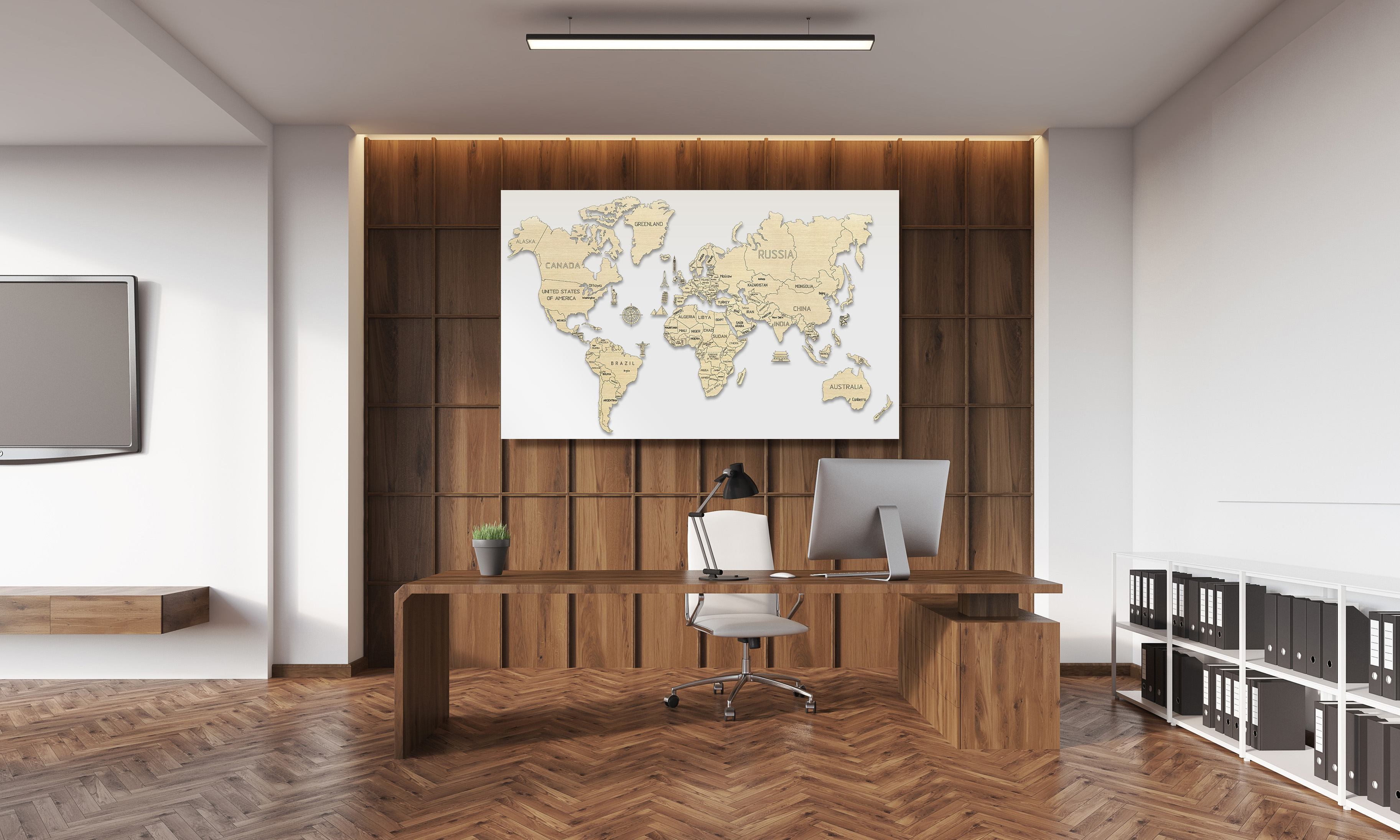 XL World map 3D puzzles Office
