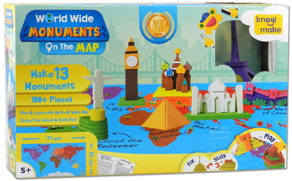 Imagimake Worldwide Monuments on the map-box