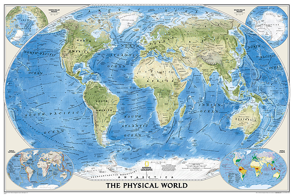 World physical - ocean floor