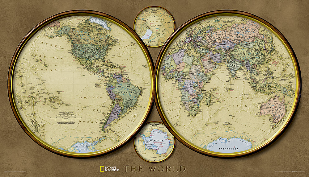 World hemispheres