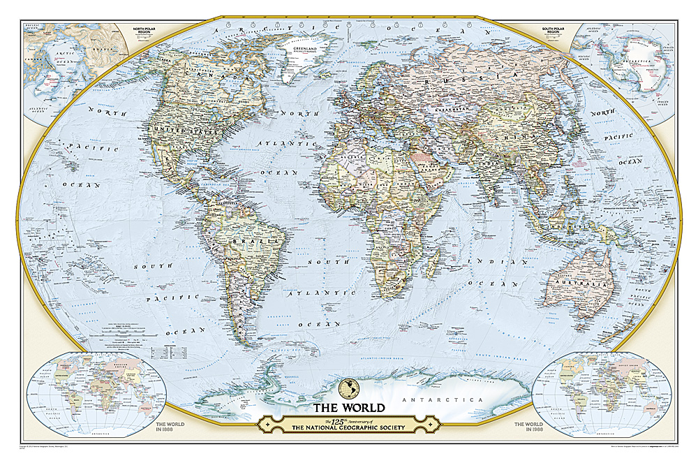 125th anniversary world map
