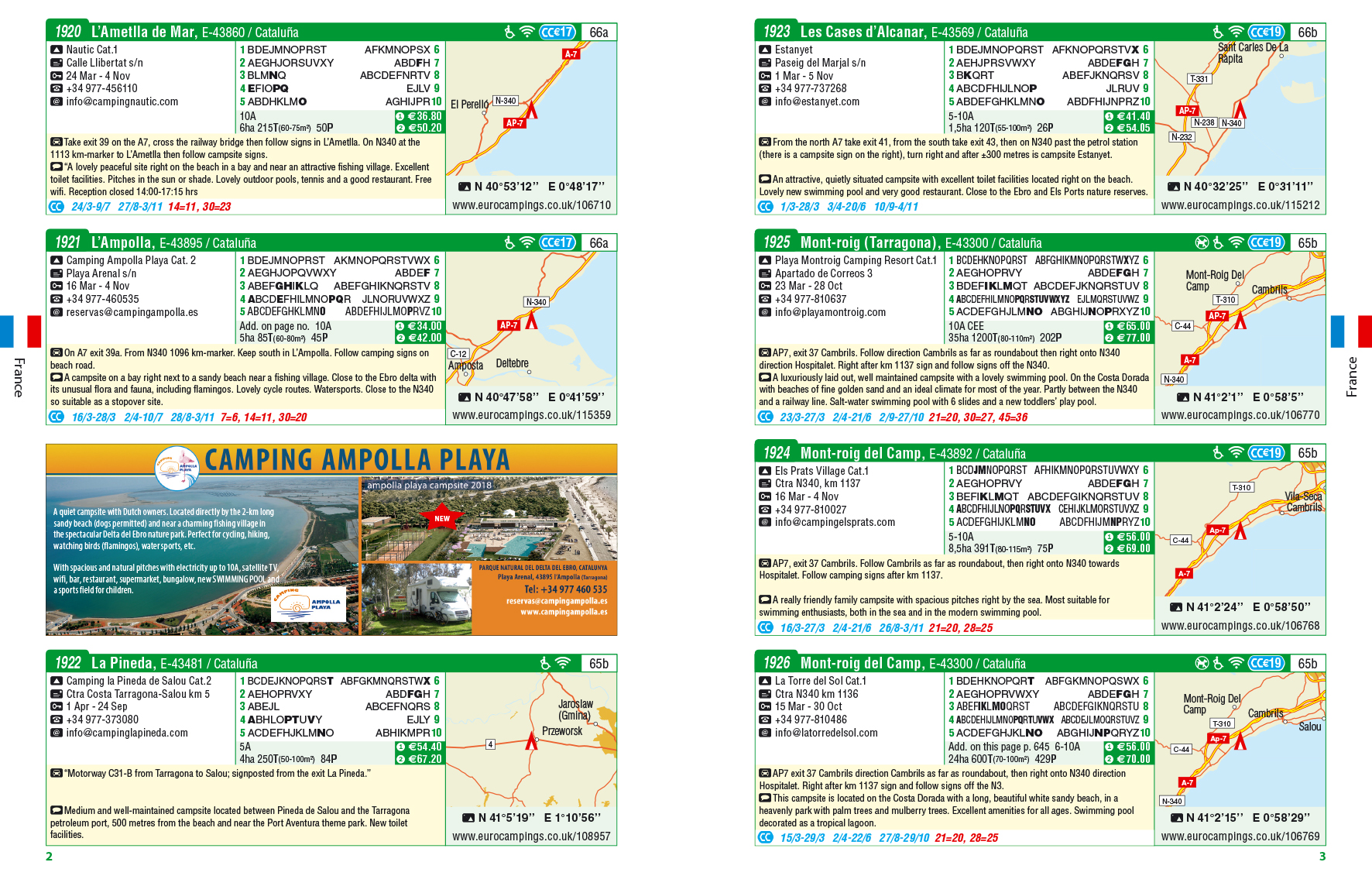 Campsites guide inside