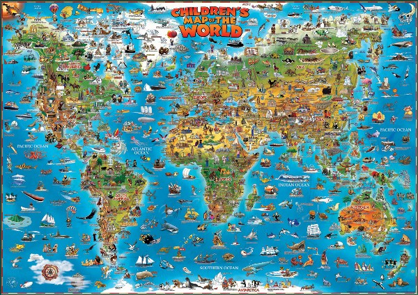 Map of the World for children