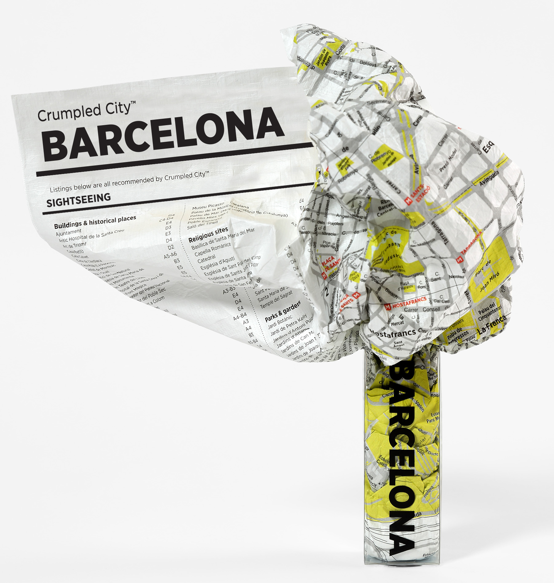 Crumpled city Barcelona