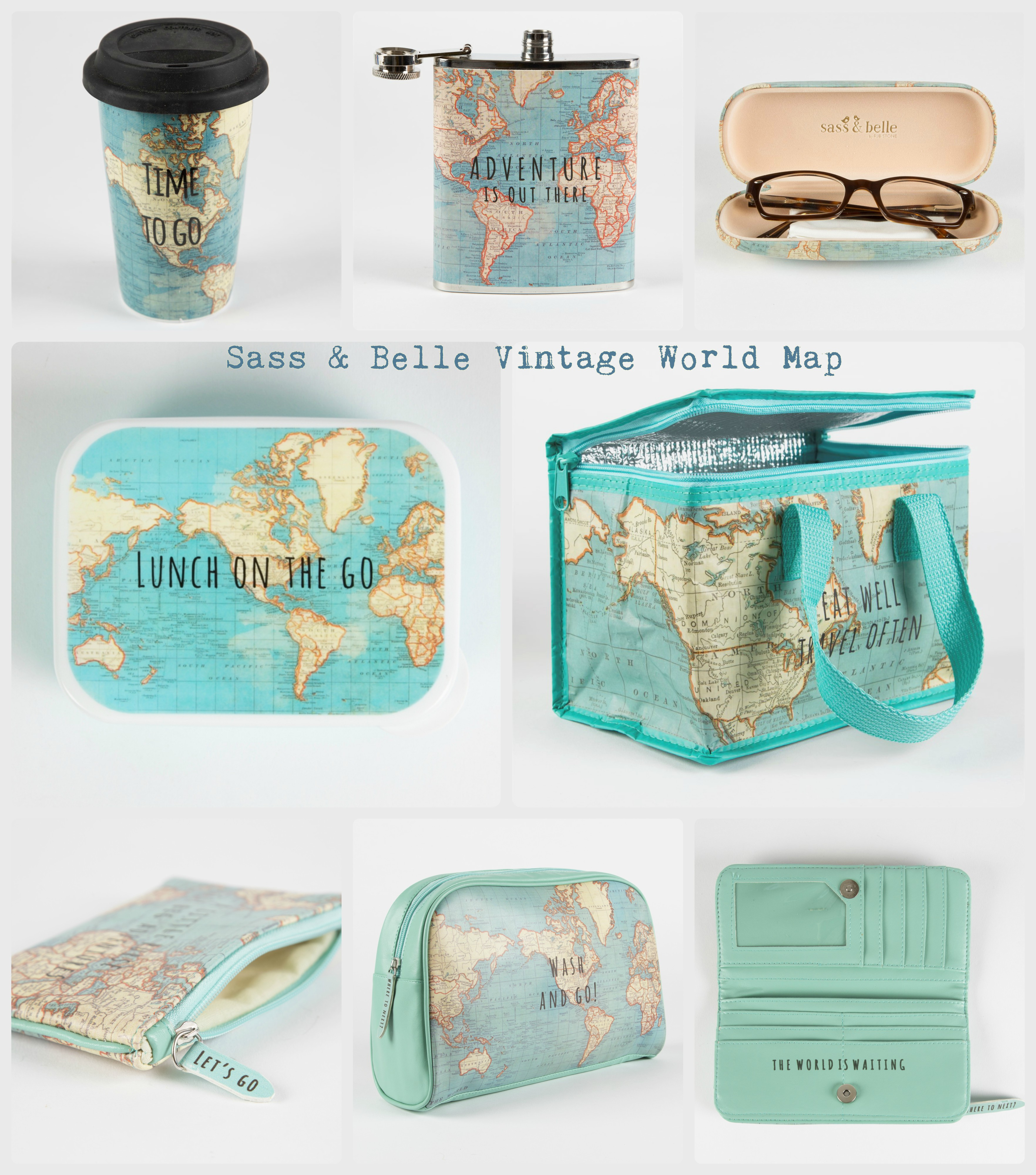Sass&Belle Vintage World map