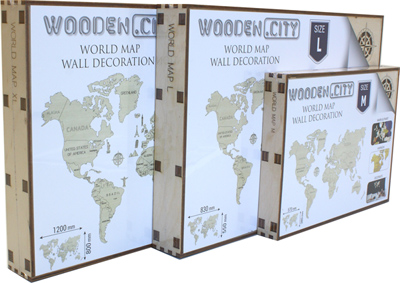 Boxes World map 3D puzzles